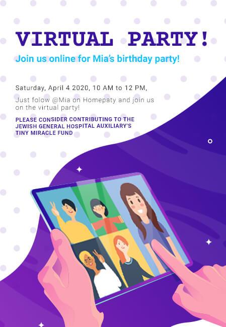 Create A Virtual Party Invitation